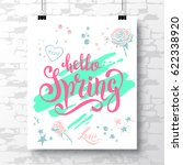 poster with a unique... | Shutterstock .eps vector #622338920