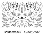 hand sketched vector vintage... | Shutterstock .eps vector #622340930