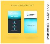 modern creative vertical double ... | Shutterstock .eps vector #622347770