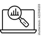 market research vector icon | Shutterstock .eps vector #622348103