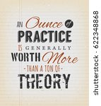 an ounce of practice is... | Shutterstock .eps vector #622348868