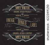 vintage typographic label... | Shutterstock .eps vector #622349150