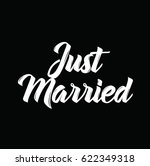 just married  text design.... | Shutterstock .eps vector #622349318