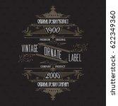 vintage typographic label... | Shutterstock .eps vector #622349360