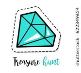 fashion patch element with...   Shutterstock .eps vector #622349624