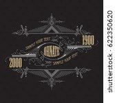 vintage typographic label... | Shutterstock .eps vector #622350620