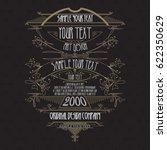 vintage typographic label... | Shutterstock .eps vector #622350629
