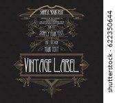 vintage typographic label... | Shutterstock .eps vector #622350644