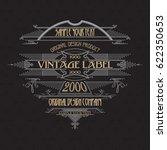 vintage typographic label... | Shutterstock .eps vector #622350653