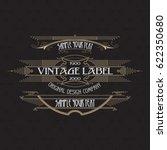 vintage typographic label... | Shutterstock .eps vector #622350680