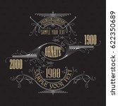 vintage typographic label... | Shutterstock .eps vector #622350689