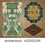 vector vintage items  label art ... | Shutterstock .eps vector #622351259