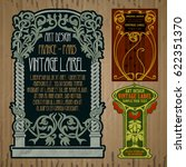 vector vintage items  label art ... | Shutterstock .eps vector #622351370