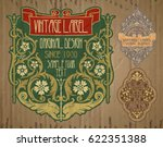 vector vintage items  label art ... | Shutterstock .eps vector #622351388