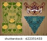 vector vintage items  label art ... | Shutterstock .eps vector #622351433