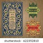vector vintage items  label art ... | Shutterstock .eps vector #622352810