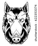 boar vector head animal face... | Shutterstock .eps vector #622353374