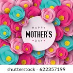 happy mother's day with flower... | Shutterstock .eps vector #622357199