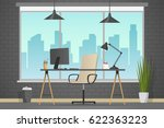 workplace banner. office theme... | Shutterstock .eps vector #622363223
