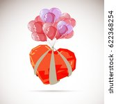 heart with balloon   vector... | Shutterstock .eps vector #622368254