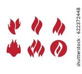 fire tattoo . fire flames... | Shutterstock . vector #622372448