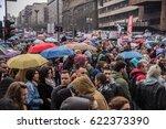 belgrade   april 2017  protest... | Shutterstock . vector #622373390