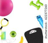sport fitness border  | Shutterstock . vector #622377260