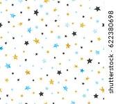 Seamless Stars Pattern. Vector...