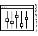 control panel vector icon | Shutterstock .eps vector #622383680