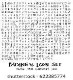 business doodles sketch vector... | Shutterstock .eps vector #622385774