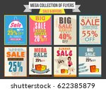 collection of sale and discount ... | Shutterstock .eps vector #622385879