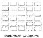 square doodle image frames ... | Shutterstock .eps vector #622386698