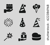 anniversary icons set. set of 9 ... | Shutterstock .eps vector #622386968