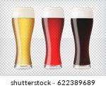 realistic glasses filled with... | Shutterstock .eps vector #622389689