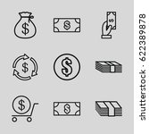 tax icons set. set of 9 tax... | Shutterstock .eps vector #622389878