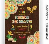cinco de mayo poster template.... | Shutterstock .eps vector #622393049
