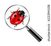 black magnifying glass with... | Shutterstock .eps vector #622394108