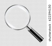 black magnifying glass gradient ... | Shutterstock .eps vector #622394150