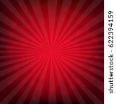 red burst poster with bokeh... | Shutterstock .eps vector #622394159