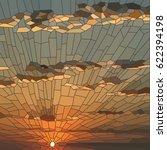 vector illustration of sunset... | Shutterstock .eps vector #622394198