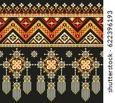 ethnic pixel seamless pattern...   Shutterstock .eps vector #622396193