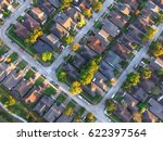 aerial view of residential... | Shutterstock . vector #622397564