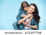 portrait of happy mother and... | Shutterstock . vector #622397768