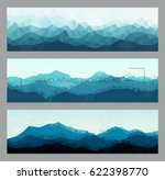 polygonal mountain ridges. ... | Shutterstock .eps vector #622398770