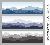 Horizontal Mountain Ridges....