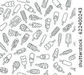 popsicle ice cream icons... | Shutterstock .eps vector #622400243