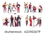 different musical bands. indie  ... | Shutterstock .eps vector #622402679