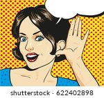 woman with surprised face... | Shutterstock .eps vector #622402898