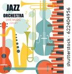 vector poster for the jazz...   Shutterstock .eps vector #622404956