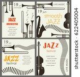 vector poster for the jazz... | Shutterstock .eps vector #622405004